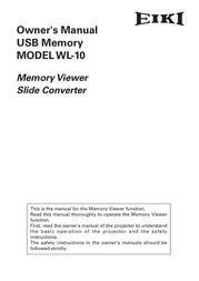 EIKI USB Memory WL-10 User Manual