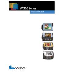 VeriFone MX800 Series Installation Instruction