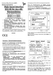 Ldt HSI-88-G High-Speed Interface HSI-88 HSI-88-G Data Sheet