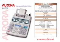 Aurora PR720 Specification Guide