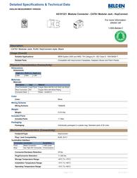 Belden GigaFlex PS6+ Module, Keystone-Style - T568A/B, Black Specification Guide