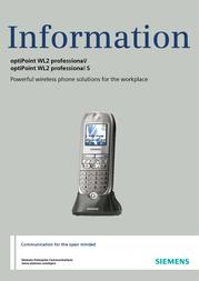 Siemens optiPoint WL2 professional L30250-F600-A798 User Manual