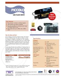 Sonnet FlashDrive 128MB USB f Mac-Win PIC-128M Leaflet