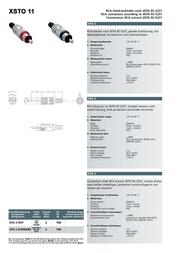 Intronics RCA Connectors - Metal, maleRCA Connectors - Metal, male XST11Z Leaflet