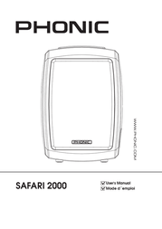 Phonic AKTIVE PA-ANLAGE SAFARI 2000 Safari 2000 Data Sheet