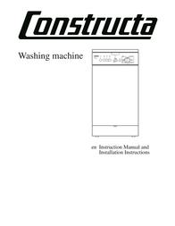 Constructa Washing machine Instruction Manual