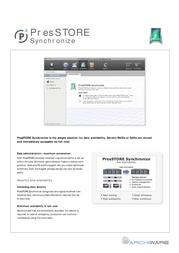 Archiware PresSTORE Synchronize 4.0 AWB800-S Leaflet