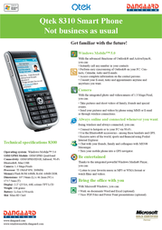 Qtek 8310 HTC093337 Leaflet