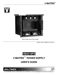 ALTINEX VM2218PS User Manual