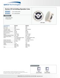 Speco SP625C Leaflet