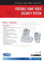 Lorex Portable Home Video Security System SG5550P Leaflet
