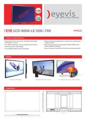 eyevis EYE-LCD-8000-LE Leaflet