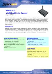 SparkLAN WMR-102 Leaflet