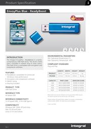 Integral 4GB USB 2.0 ENVOYplus w/ READYBOOST INFD4GBENVBRB Leaflet