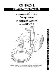 Omron Healthcare COMPAIV XLT NE-C25 User Manual