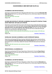 Oldsmobile Automobile 2005 User Manual