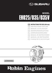 Subaru EH025P User Manual