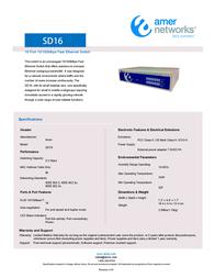 Amer Networks SD16 Leaflet
