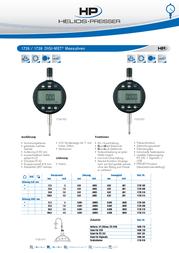 Helios Preisser DIGI-MET® Instrument 1726 502 Reading range(s) 12.5 mm Reading 0,001 mm Accuracy 0,005 mm 1726 502 Data Sheet