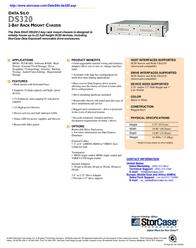 "StorCase DS320 2-Bay, 5.25"" HH, Rack Mount, SCSI Ultra160 VHDCI, 65W/112Wp DS320-2-160 Leaflet"
