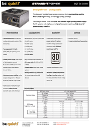 be quiet! Straight Power E6 350W BN082 Leaflet
