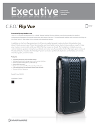 Marware C.E.O. Flip Vue f/ iPhone 3G MARIP3CEOFLVUEBR Dépliant