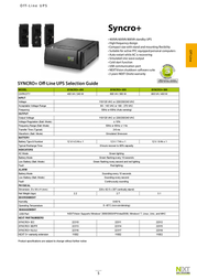 NEXT UPS Systems SYNCRO+ 600 22317 Leaflet