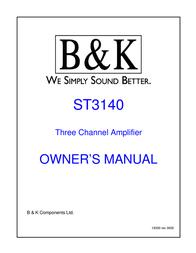 B&K ST3140 User Manual
