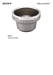 Sony 0.6X Wide Angle Lens VCL0637 Leaflet