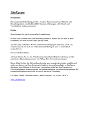liteXpress Liberty 105 LX209101 Information Guide