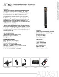 Audix ADX51 AUDIX ADX51 Leaflet
