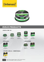 Intenso DVD-R 4.7GB 4101156 Leaflet