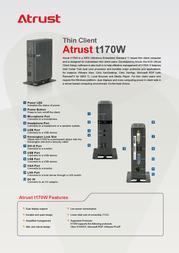 Atrust t170W T170W Leaflet
