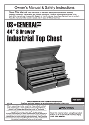 General Tools & Instruments Tool Storage 68787 User Manual