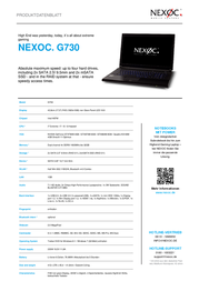 Nexoc G730 4050989171211 Leaflet