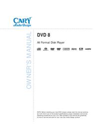 Cary Audio Design DVD 8 User Manual