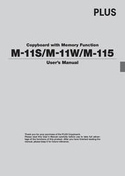 Plus COPYBOARD M-115 User Manual