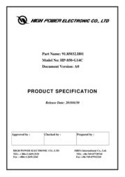 High Power HP-850-G14C User Manual