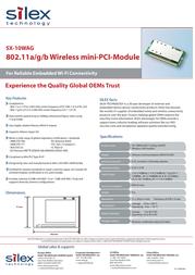Silex SX-10WAG E1084 Leaflet