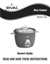 Rival Rice Cooker RC61-CN User Manual