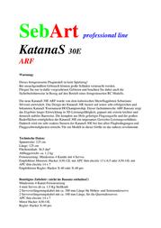 Sebart ARF 1028 mm 10028817 Data Sheet