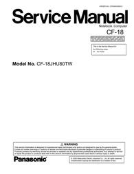 Matsushita CF-18JHU80TW User Manual