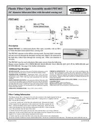 Banner Plastic Fiber Optic PBT46U Leaflet