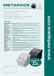 Metapace T-1 META-T1W Leaflet
