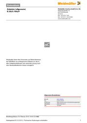 Weidmueller Micro fuse 20 mm x 55 mm 3.15 A Weidmüller 0431100000 Content 10 pc(s) 0431100000 Data Sheet