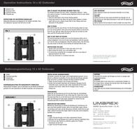 Walther Outlander 10 x 42 Binoculars 5.9010 Leaflet
