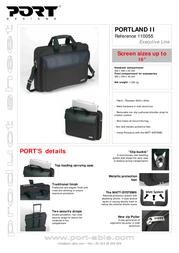 Port Designs Executive Line bag PORTLAND II 110055 Leaflet