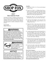 Woodstock SHOP FOX D2267 Leaflet