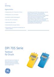 Ge Sensing DPI705-2bar-A Digital Manometer DPI705-2bar-A Data Sheet