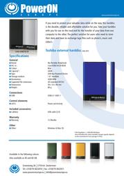PowerOn HT-18A CASE-USB218-20BL Leaflet